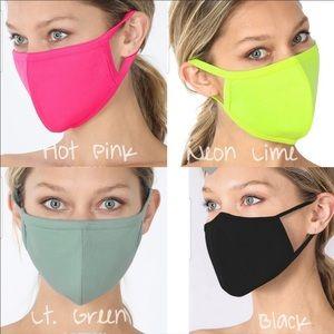 Made In USA Black Face Mask Cotton Reusable…